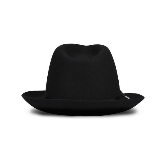 Schwarze Wollmütze