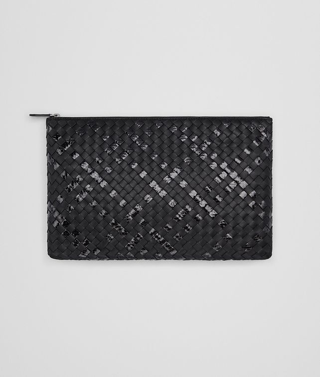 BOTTEGA VENETA LARGE DOCUMENT CASE IN NERO INTRECCIATO NAPPA AND AYERS Other Leather Accessory D fp