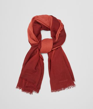 SCARF IN ORANGE BORDEAUX WOOL