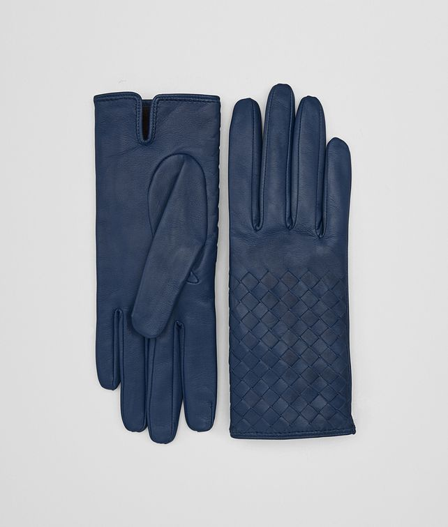 BOTTEGA VENETA GLOVE IN PACIFIC NAPPA, INTRECCIATO DETAILS Scarf or other D fp