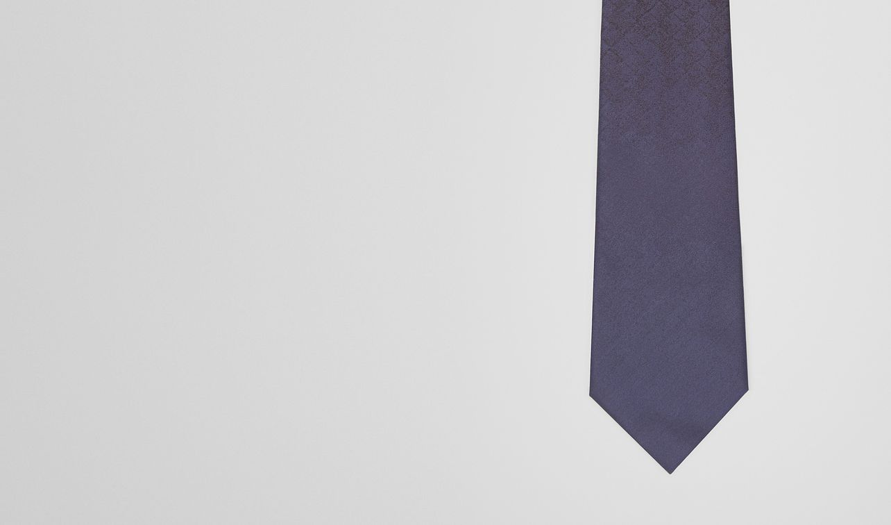 tie in midnight blue black silk landing