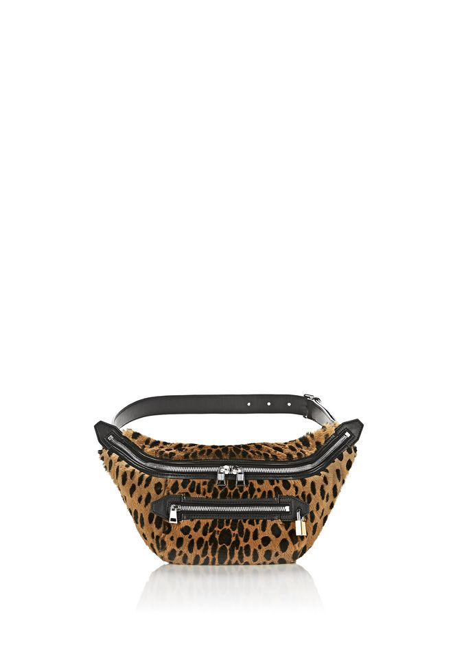 ALEXANDER WANG Shoulder bags Women PADLOCK FANNYPACK IN CHEETAH PRINTED SHEARLING