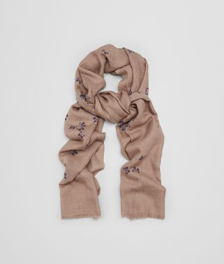 SCARF IN SAND LIGHT PURPLE CASHMERE