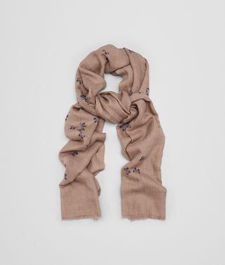 サンド ライトパープル カシミア スカーフ