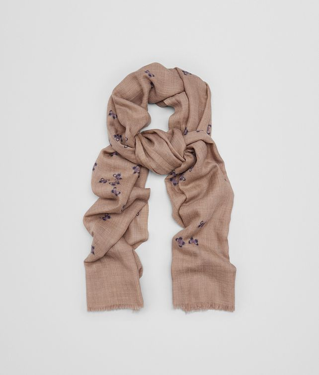 BOTTEGA VENETA SCARF IN SAND LIGHT PURPLE CASHMERE Scarf or other D fp