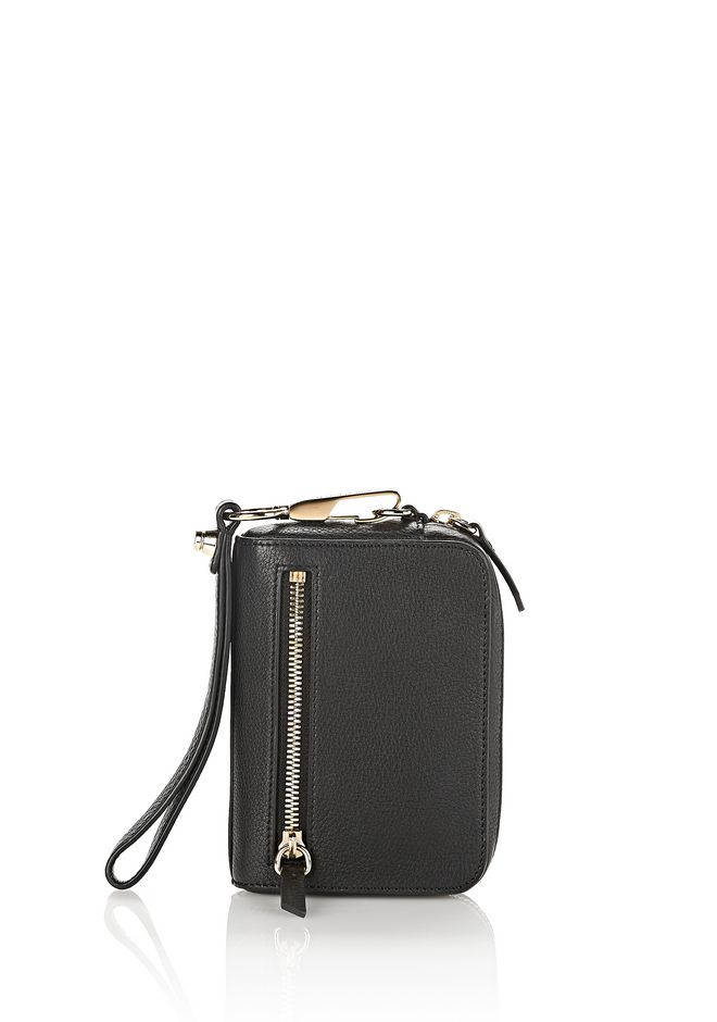 ALEXANDER WANG SMALL LEATHER GOODS Women LARGE FUMO IN SOFT PEBBLED WITH PALE GOLD
