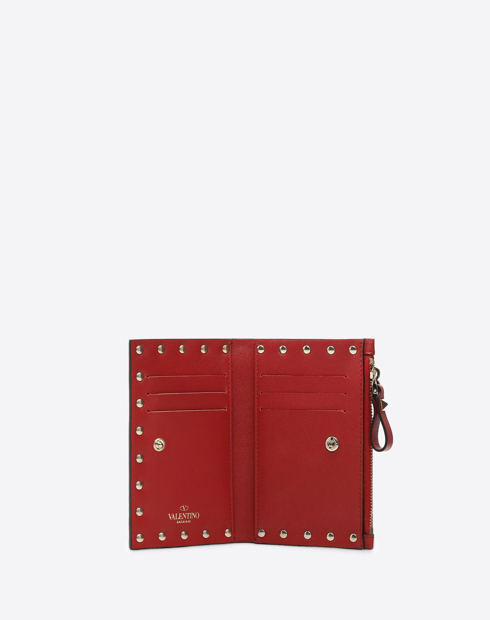 VALENTINO Studs Logo Solid color Snap button fastening External pocket Internal card slots  46468467re