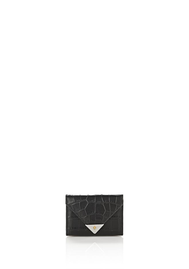ALEXANDER WANG SMALL LEATHER GOODS Women EXCLUSIVE CROC EMBOSSED PRISMA ENVELOPE COMPACT