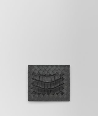 LIGHT GRAY CROCODILE BI-FOLD WALLET