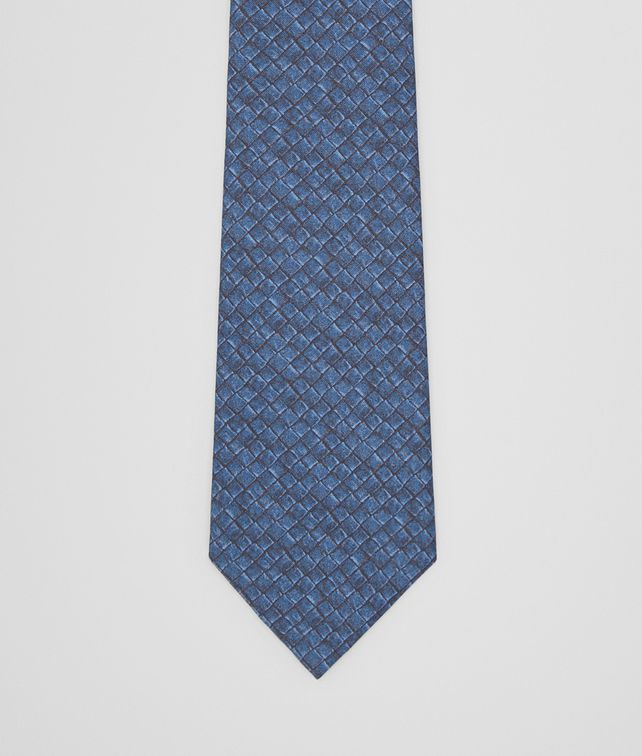 BOTTEGA VENETA TIE IN MIDNIGHT BLUE BLACK SILK Tie Man fp