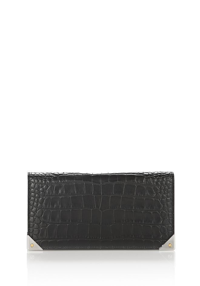 ALEXANDER WANG exclusives EXCLUSIVE CROC EMBOSSED PRISMA LONG COMPACT