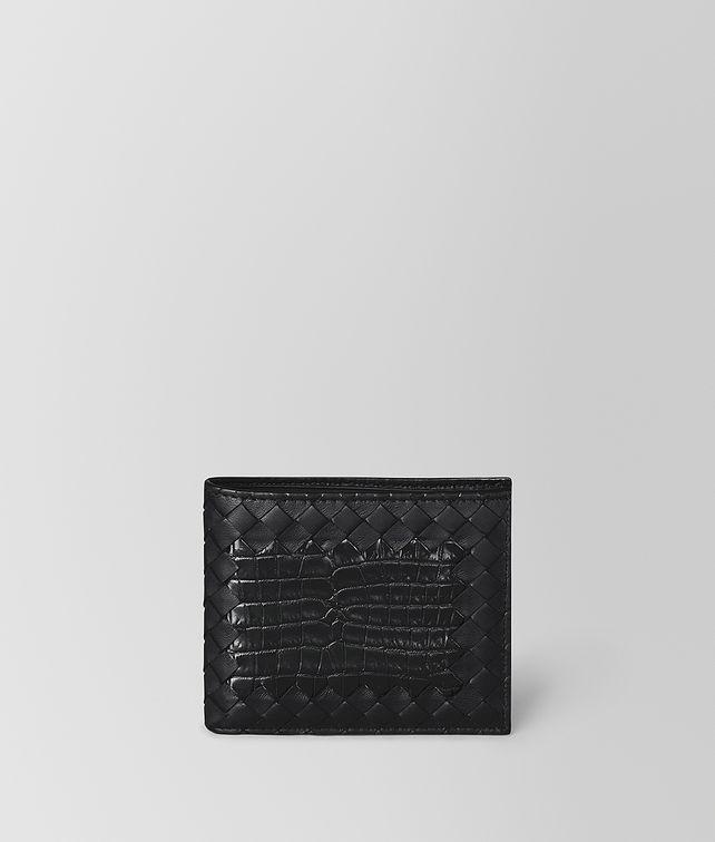 BOTTEGA VENETA NERO INTRECCIATO NAPPA CROCODILE WALLET Bi-fold Wallet Man fp