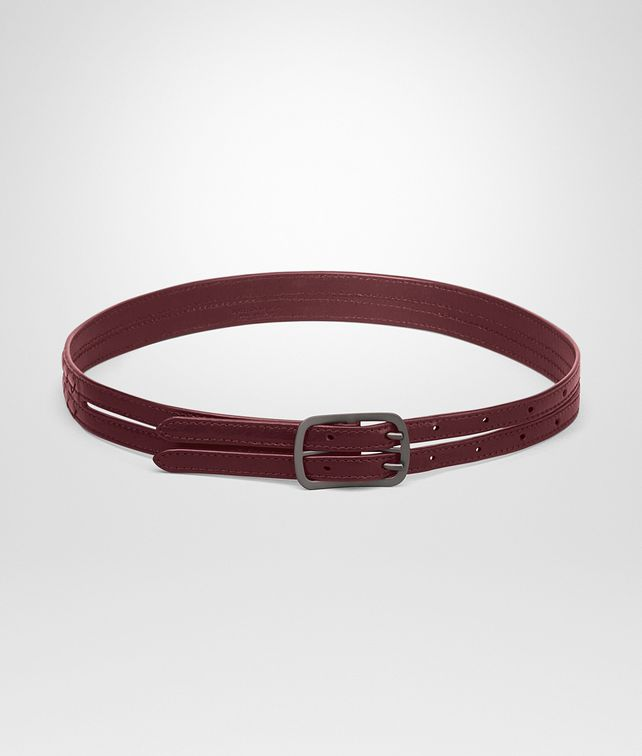 BOTTEGA VENETA BELT IN BAROLO INTRECCIATO CALF LEATHER Belt Woman fp