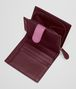 BOTTEGA VENETA MINI WALLET IN BAROLO BRICK PEONY INTRECCIATO NAPPA CLUB LEATHER Mini Wallet or Coin Purse D lp