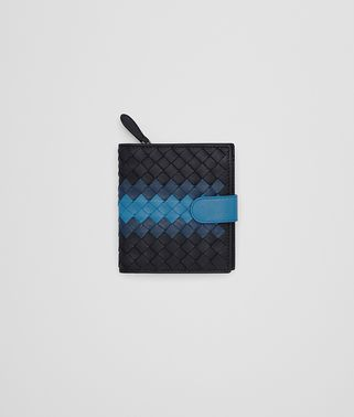 MINI WALLET IN TOURMALINE-PACIFIC-PEACOCK NEW INTRECCIATO NAPPA CLUB