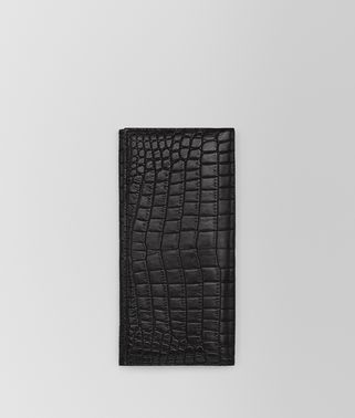 CONTINENTAL WALLET IN NERO SOFT CROCODILE