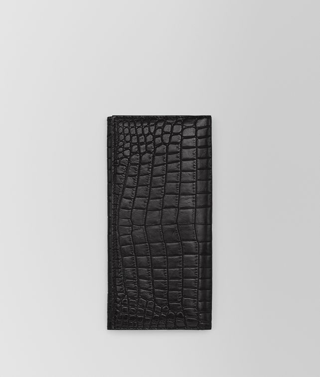 BOTTEGA VENETA CONTINENTAL WALLET IN NERO SOFT CROCODILE Continental Wallet Man fp