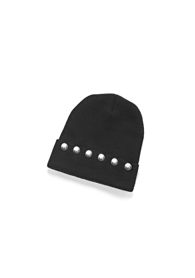 T by ALEXANDER WANG Scarves & Hats Women CASHWOOL JERSEY BEANIE WITH SNAPS