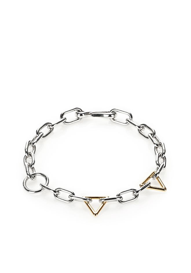 ALEXANDER WANG jewelry MIXED YELLOW GOLD AND RHODIUM LINKS NECKLACE