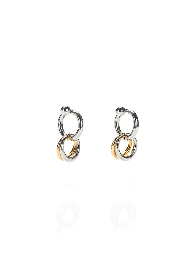 ALEXANDER WANG jewelry MIXED RHODIUM AND YELLOW GOLD LINKS EARRINGS