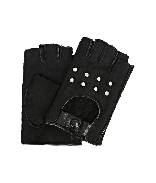 KARL LAGERFELD K/Shearling Fingerless Gloves 12_f