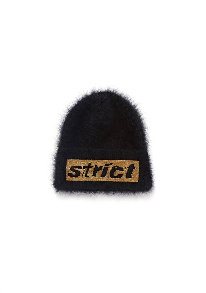 ALEXANDER WANG accessories RIBBED BEANIE WITH EMBROIDERY GRAPHIC