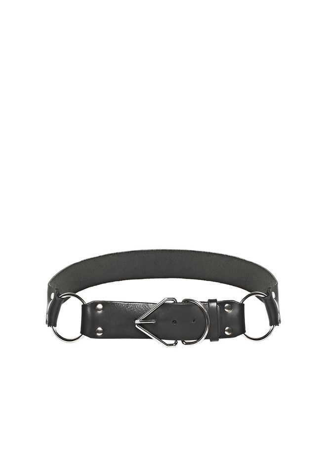 ALEXANDER WANG accessories TRIANGLE BUCKLE BELT WITH RHODIUM