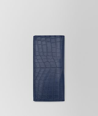 CONTINENTAL WALLET IN PACIFIC SOFT CROCODILE FUME'