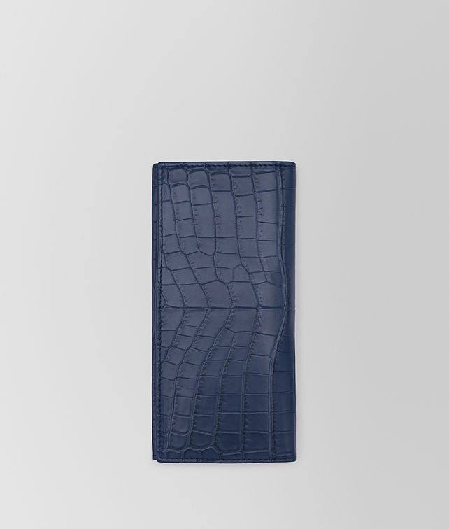 BOTTEGA VENETA CONTINENTAL WALLET IN PACIFIC SOFT CROCODILE FUME' Large Wallet [*** pickupInStoreShippingNotGuaranteed_info ***] fp
