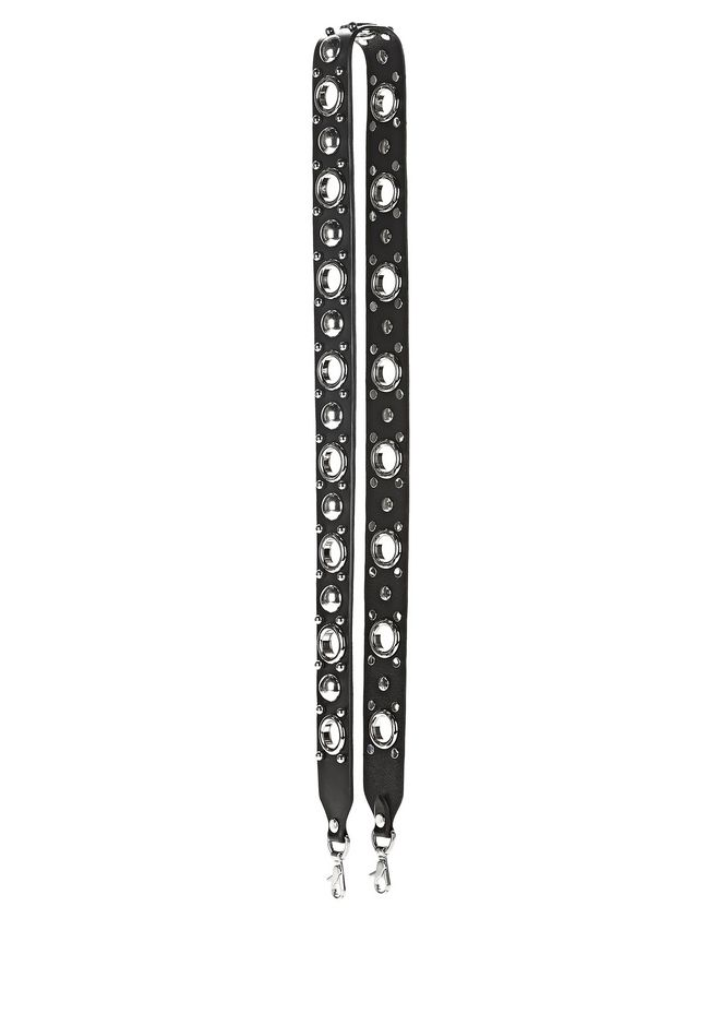 ALEXANDER WANG accessories ATTICA STUD EMBELLISHED BAG STRAP WITH RHODIUM