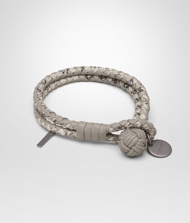 BOTTEGA VENETA BRACELET IN FUME' INTRECCIATO NAPPA AND AYERS Keyring or Bracelets E fp