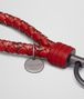 BOTTEGA VENETA KEY RING IN CHINA RED INTRECCIATO AYERS Keyring or Bracelets E ap