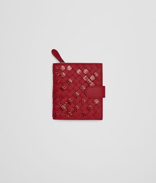 MINI WALLET IN CHINA RED INTRECCIATO NAPPA AND AYERS