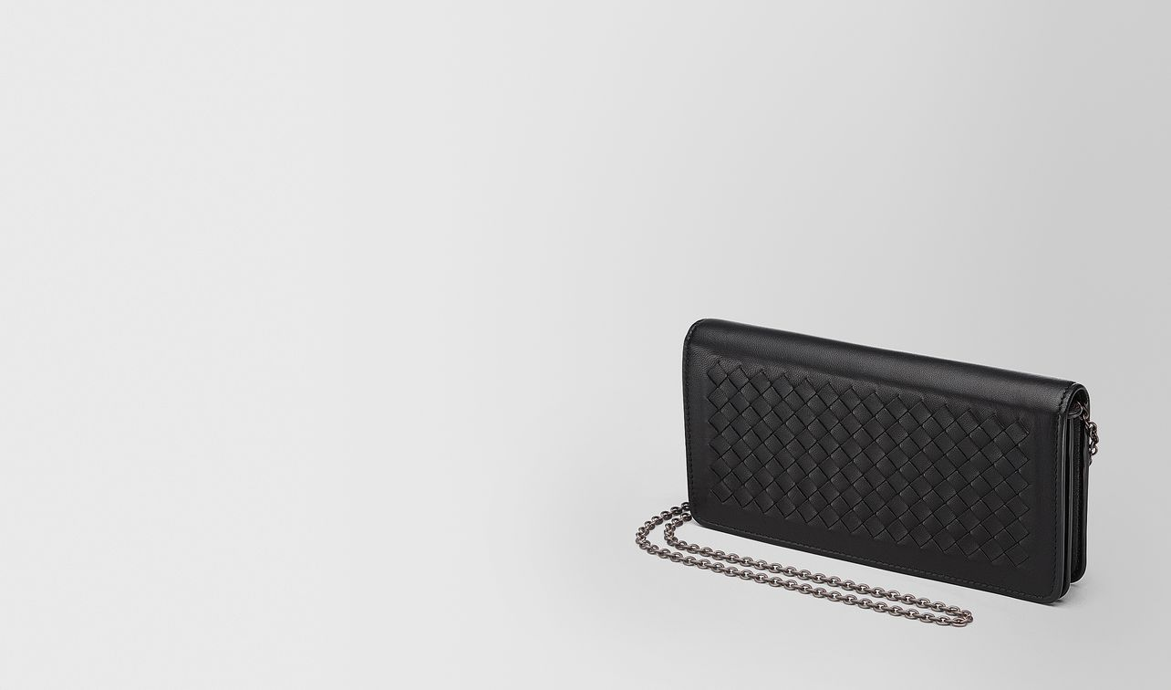 continental wallet in nero intrecciato nappa landing