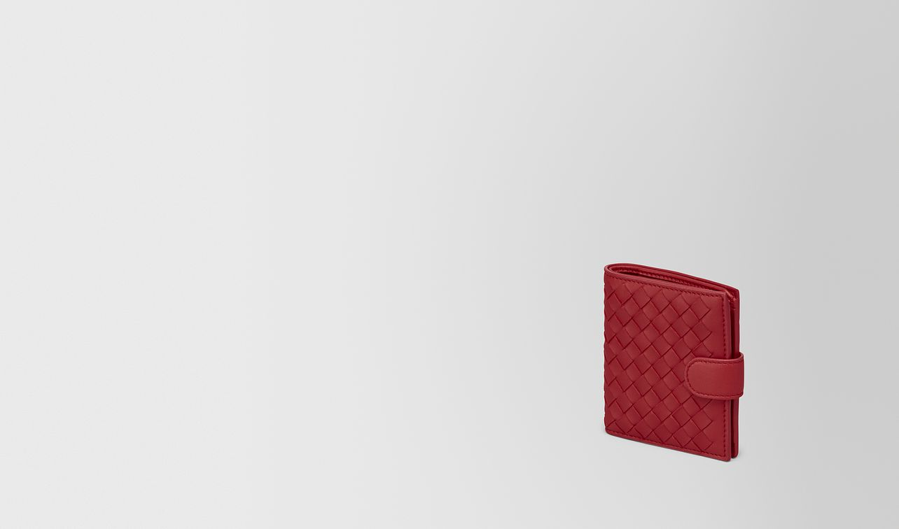 mini wallet in china red intrecciato nappa landing