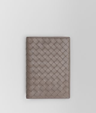 PASSPORT CASE IN STEEL INTRECCIATO NAPPA