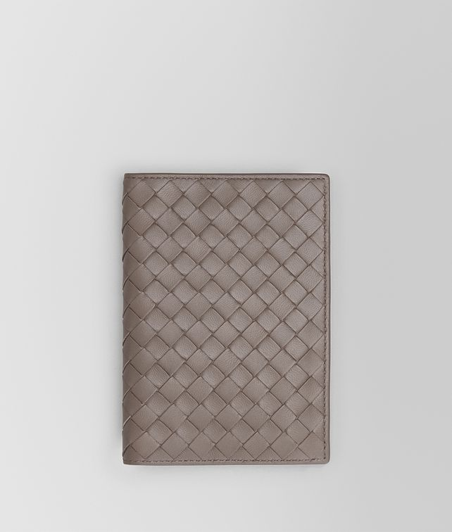 BOTTEGA VENETA PASSPORT CASE IN STEEL INTRECCIATO NAPPA Other Leather Accessory E fp