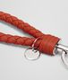 BOTTEGA VENETA KEY RING IN GERANIUM INTRECCIATO NAPPA Keyring or Bracelets E ap