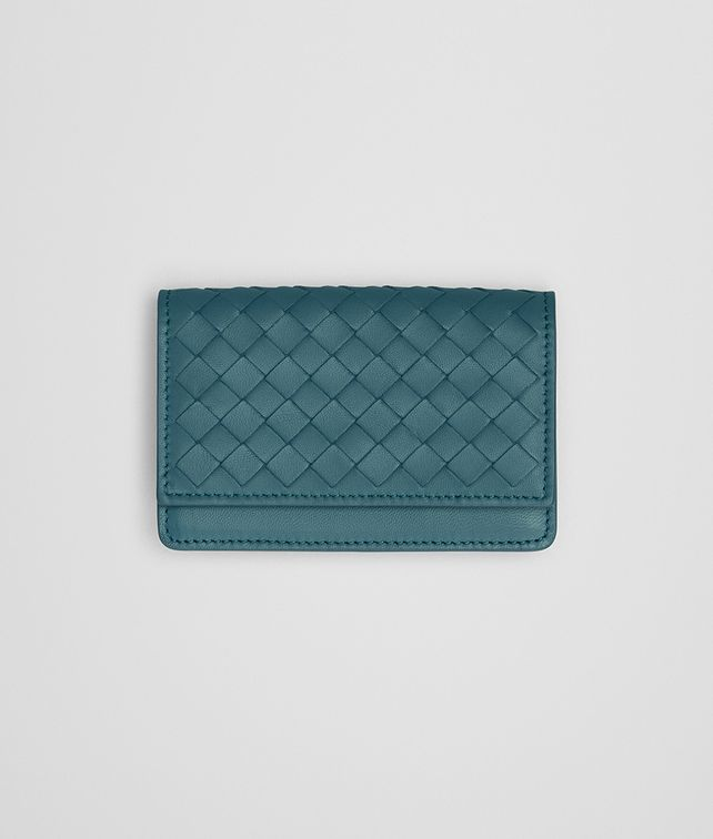 BOTTEGA VENETA CARD CASE IN BRIGHTON INTRECCIATO NAPPA Card Case or Coin Purse E fp
