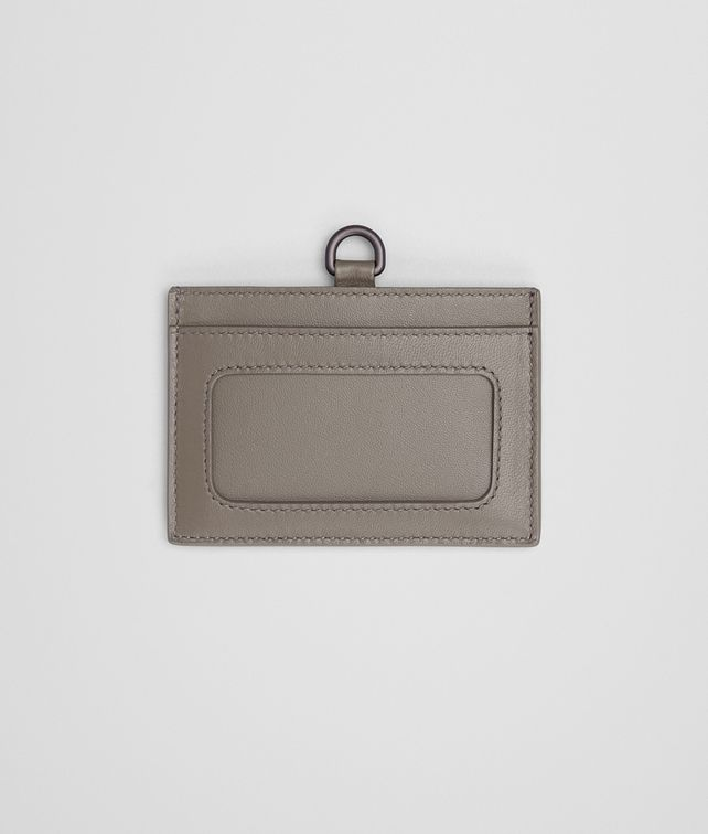 BOTTEGA VENETA CARD CASE IN STEEL INTRECCIATO NAPPA Other Leather Accessory E fp