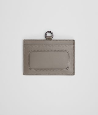 CARD CASE IN STEEL INTRECCIATO NAPPA