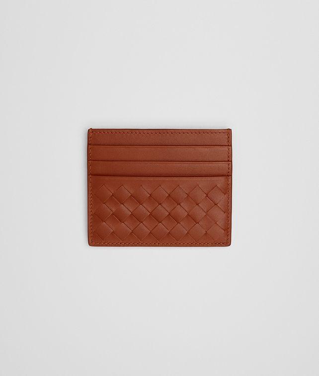 BOTTEGA VENETA CARD CASE IN CALVADOS INTRECCIATO VN Card Case or Coin Purse E fp