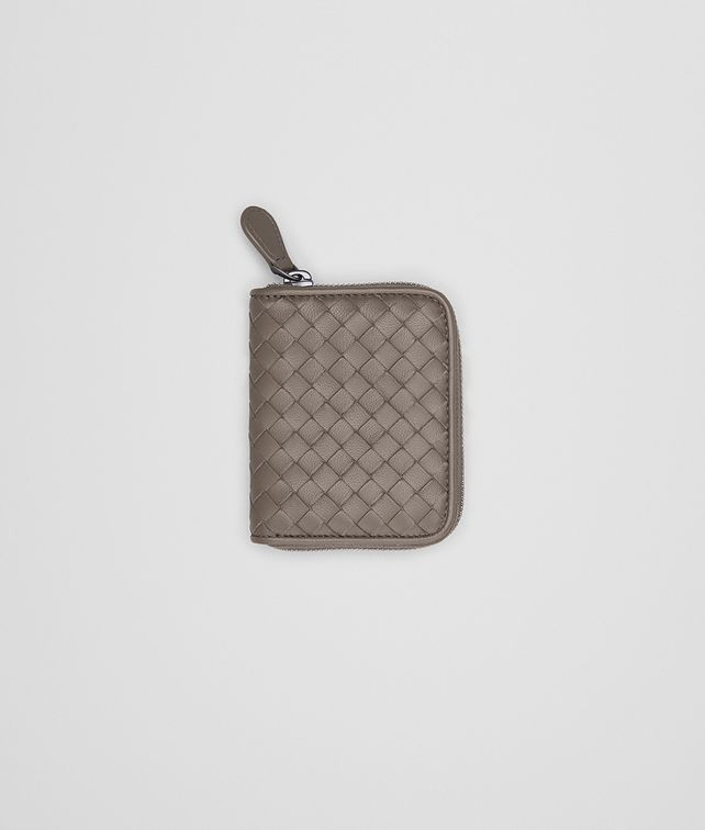 BOTTEGA VENETA COIN PURSE IN STEEL INTRECCIATO NAPPA Mini Wallet Woman fp