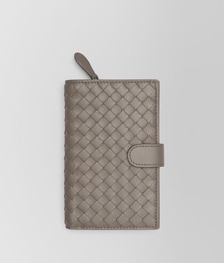CONTINENTAL WALLET IN STEEL INTRECCIATO NAPPA