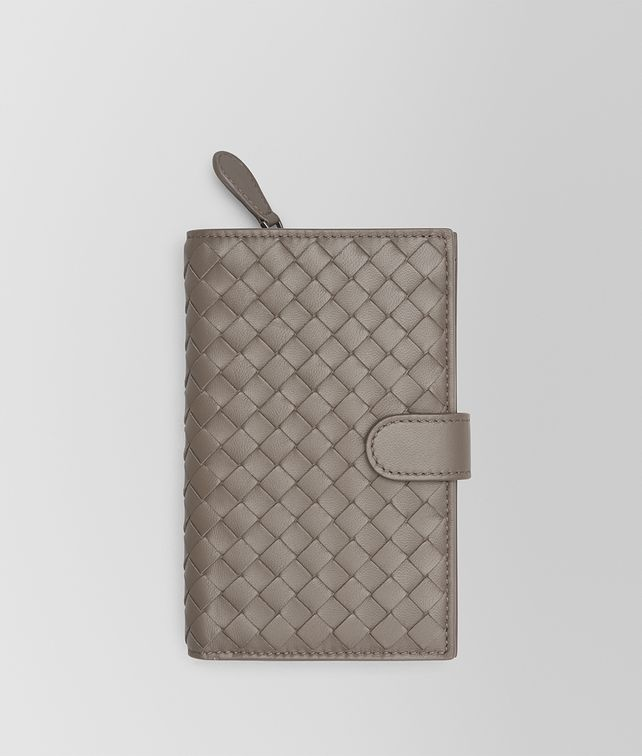 BOTTEGA VENETA CONTINENTAL WALLET IN STEEL INTRECCIATO NAPPA Continental Wallet Woman fp