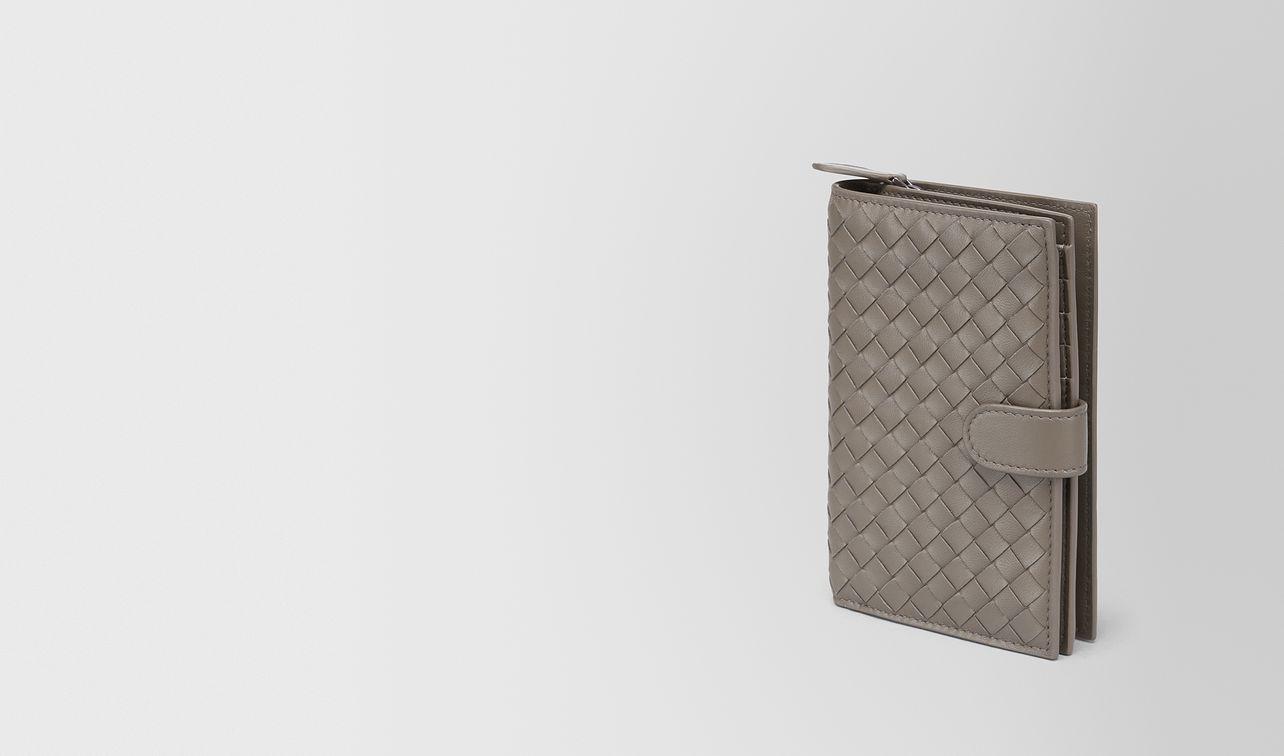 continental wallet in steel intrecciato nappa landing