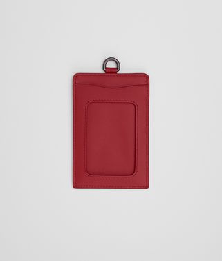 CARD CASE IN CHINA RED INTRECCIATO NAPPA