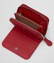 BOTTEGA VENETA MINI WALLET IN CHINA RED INTRECCIATO NAPPA Mini Wallet or Coin Purse D ap