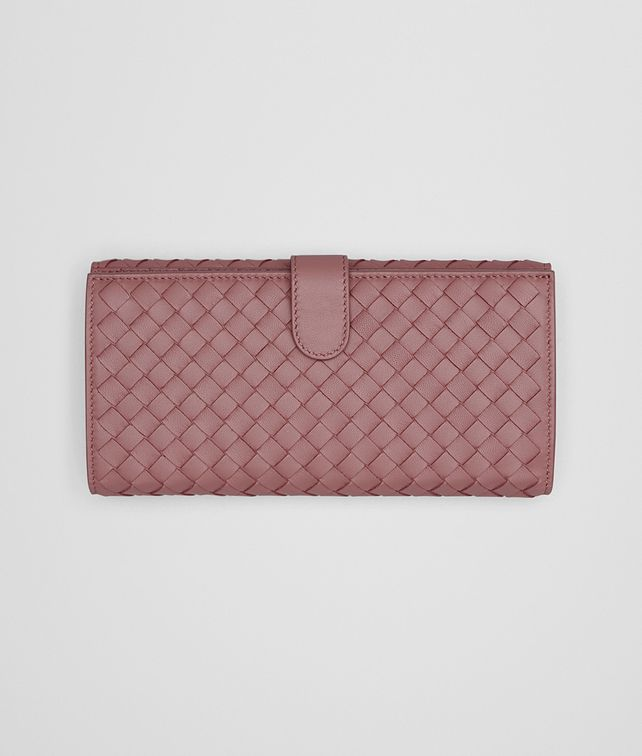 BOTTEGA VENETA CONTINENTAL WALLET IN DUSTY ROSE INTRECCIATO NAPPA Continental Wallet D fp
