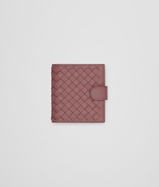 MINI WALLET IN DUSTY ROSE INTRECCIATO NAPPA